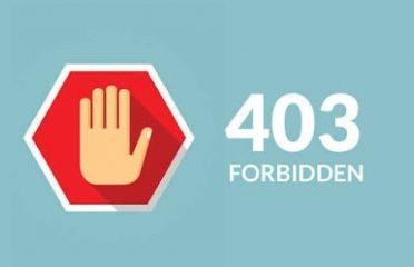 Fix browser error 403 Forbidden