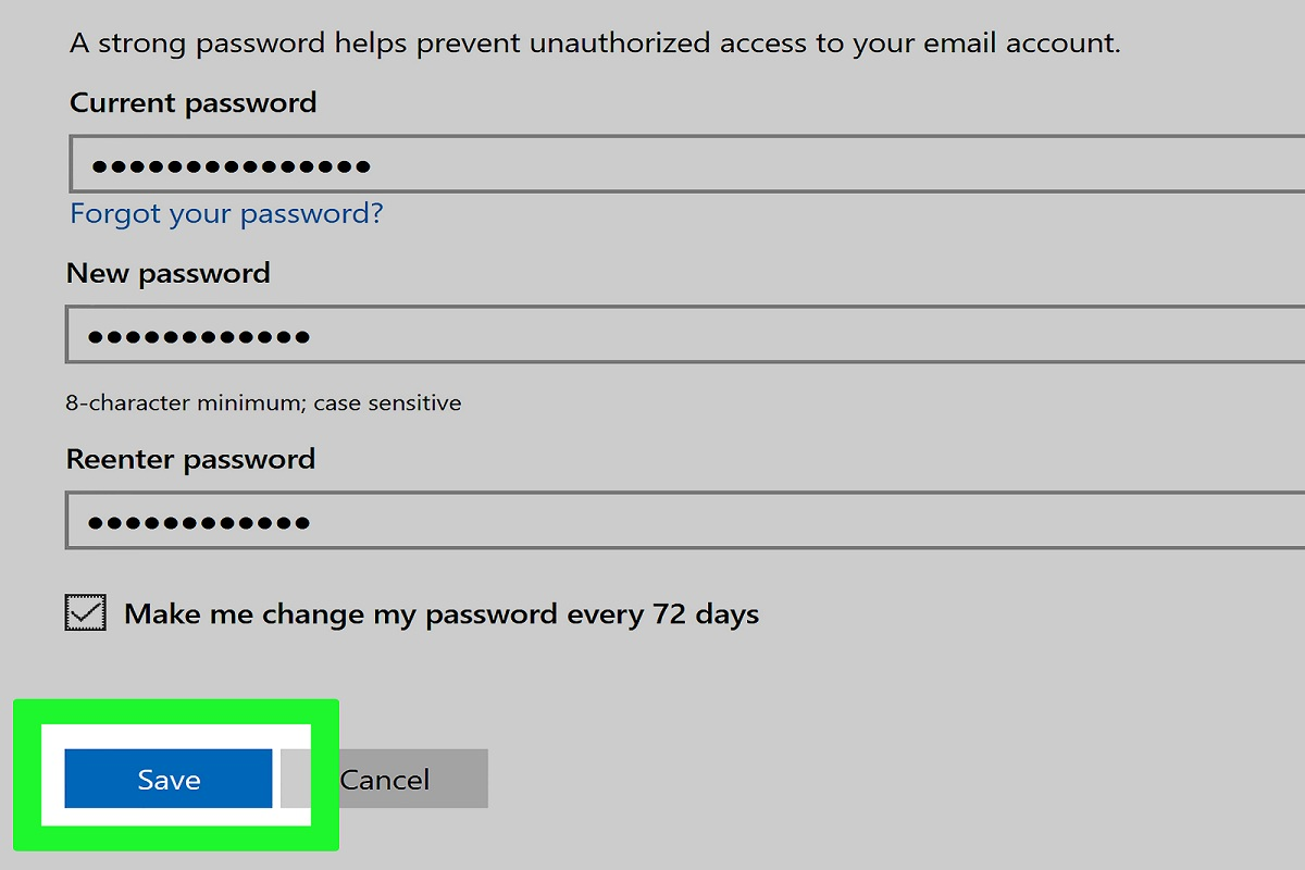How to Change Hotmail Password on My Android Phone